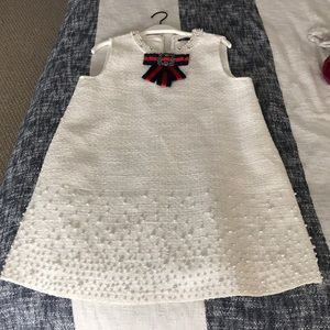 White beaded shift dress (perfect for brides!)